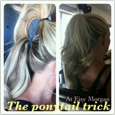 The ponytail trick to make your hair look longer! Why did I never know about this before now???!!