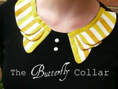 Butterfly Collar and Buttons - Cute Way to Embellish a Onesie