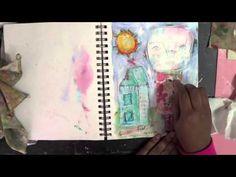 mixed media art journal process
