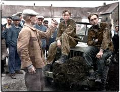 Young SS. prisoners of war in France 1944