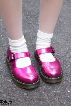 Metallic Mary Janes from Dr. Martens