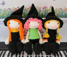 Sayjai amigurumi crochet patterns ~ K and J Dolls / K and J Publishing: The 3 Witches Amigurumi Pattern