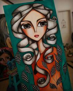 📸 Romi Lerda art (@romi_lerda_art) • Instagram Profile - Pikstagram Art Drawings For Kids, Art Drawings Sketches, Art And Illustration, Art Photography Portrait, Madhubani Painting, Abstract Portrait, Whimsical Art, Art Plastique, Indian Art