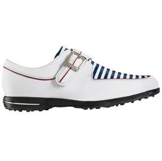 FootJoy Women's Tailored Collection Golf Shoes 91650 Navy Stripes, Stripes Design, Womens Golf Shoes, Stella Mccartney Elyse, Ladies Golf, Shoe Sale, Cleats, Wedges, Adidas