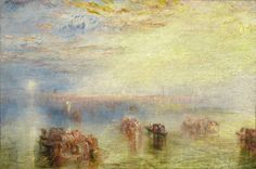 Joseph Mallord William Turner Approach to Venice 1844 Painting.