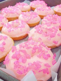 pink rock candy doughnuts