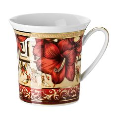 Enjoy a festive beverage in ultimate style with this Christmas Blooms Mug from Versace. Crafted from the highest quality porcelain, it is adorned with the amaryllis flower...