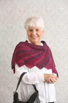 Flying Colors Shawl - Flying Colors is an elegant, crescent-shaped shawl  whose… 86d6018f2e6