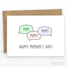"""Mother's Day Card That split second when you wondered if your mom was kidnapped when she doesn't answer. - Blank Inside - A2 size (4.25"""" x 5.5"""") - 100% Recycled Heavy Card Stock with 100% Recycled Kra"""