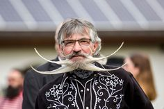 Extravagant facial hair of all shapes and sizes were gathered in the alpine town of Leogang, Austria over the past weekend for the 2015 World Beard and Full Beard, Epic Beard, Moustaches, Beard Competition, Beard Styles, Hair Styles, Races Style, World Images, Beard No Mustache