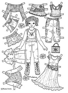 Karen`s Paper Dolls: Malene 1-6 Paper Doll to Colour. Malene 1-6…