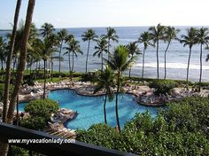 The view from our deluxe oceanfront room at the Hyatt Regency Maui www.myvacationlady.com