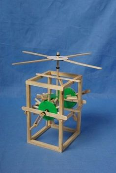 Teach them young!     Physics :: Force and mechanical :: Gear Windmill - DIY Toys World