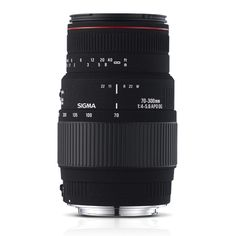 70-300mm F4-5.6 APO DG Macro(Motorized) Designed for use with full frame digital SLR cameras. May also be used with smaller APS-c size sensors with a corresponding effective increase in focal length to about 100 to 450mm with most cameras Minimum focusing distance of 59 inches & allows macro photography with a maximum magnification of 1 to 2 Extremely compact design weighing only 19.4 oz & measures only 4.8 inches in length A lens hood, front & rear lens caps and carrying case are…