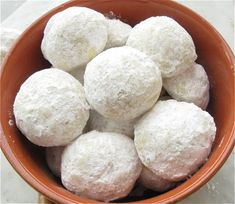 Mexican Wedding Cookies – or Russian Teacakes, or Mexican Teacakes, or Russian Wedding Cookies, or just plain Snowballs or Butterballs...whatever you call them, they are one and the same. My most favorite cookies of all :-)