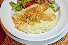 Chicken Dijon with Parsley Mashed Potatoes