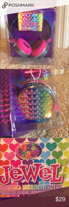 Lisa frank headphones NWT . Cute . Reminds of the 90s can fit iPhone lisa frank Other