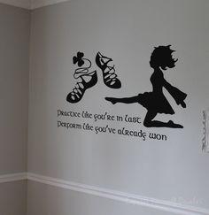 57 Ideas For Irish Dancing Inspiration Beautiful Dance Bedroom, Dance Rooms, Irish Dance Quotes, Dance Studio Design, Irish Step Dancing, Wall Decals, Wall Art, Wall Stickers, Book Of Kells