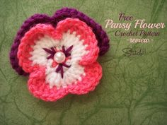 Free Pansy Flower Crochet Pattern – Review, thanks so xox