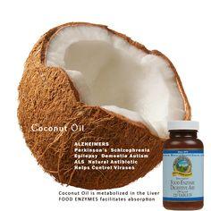 Coconut Oil Benefits: ALZHEIMERS Parkinson's Schizophrenia Epilepsy Dementia Autism ALS Natural Antibiotic Helps Control Viruses  http://www.naturalhealthstore.us/coconut-oil-benefits/  #Natural#Sunshine