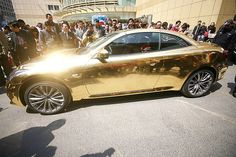 Gold-Painted Infiniti G37 In China
