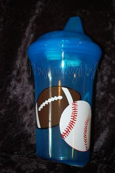 football baseball sippy cup - personalized    www.facebook.com/PersonallyPoshByBethanie