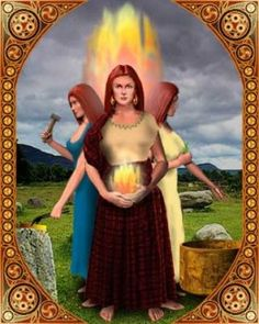 Brigid is said to be a triple Goddess and has been compared to the Virgin Mary. It is said that this is the Catholics version of Brigid. A virgin, a mother and eventually a crone as well.