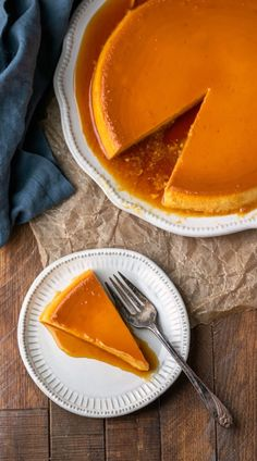 This cream cheese flan tastes like flan meets cheesecake. It's all topped with a sweet caramel sauce. Caramel Flan, Caramel Recipes, Round Cake Pans, Round Cakes, Cream Cheese Flan, How To Make Flan, Dessert Ideas, Dessert Recipes, Retro Recipes