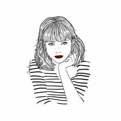 Como siga entrando este frío por mi ventana, voy a acabar llamándote. Sara Herranz illustration.
