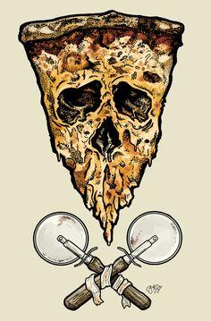 Evil skull pizza of death!