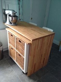 After: Rolling Kitchen Storage