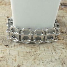 pop tab bracelet pop tabs linked with chainmaille