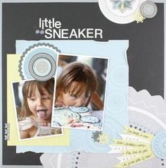 Little Sneaker Shine #Scrapbook Layout Page Idea from Creative Memories    http://www.creativememories.com