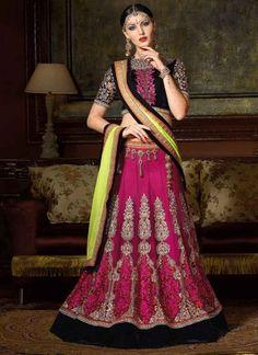 Charming Pink And Light Green Net Designer Lehenga Choli http://www.angelnx.com/Lehenga-Choli/Designer-Lehenga-Choli