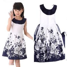 Girls Dresses Summer 2017 Princess Sleeveless Floral Casual Dress Kids Dresses for Girls 8 10 11 12 Year Children's Clothing Girls Casual Dresses, Little Girl Dresses, 10 Years Girl Dress, The Dress, Baby Dress, African Fashion, Fashion Kids, Kind Mode, Designer Dresses