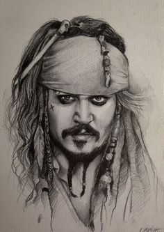 Drawing Pencil Portraits - Piraci z Karaibów Portret Jack'a Sparrow'a Pirates of the Caribbean Drawing Captain Jack Sparrow Portrait (Johnny Depp) www.youtube.com/... Discover The Secrets Of Drawing Realistic Pencil Portraits