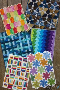 New Patterns! Spring 2014 | Jaybird Quilts - coming out June 1st - need to finish my two other mini's so I can try the mini Lotus and the mini Tiny Dancer.
