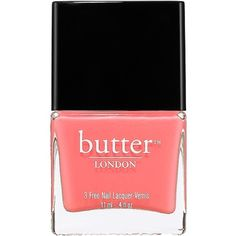 butter LONDON - 3 Free Nail Lacquer in Trout Pout - opaque cantaloupe. A heavily pigmented, high-fashion nail lacquer. Coral Nail Polish, Nail Lacquer, Coral Nails, Polish Nails, Nail Polishes, Manicures, Sephora, How To Do Nails, Fun Nails