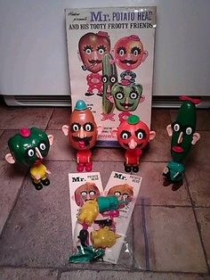 Vintage-Hasbro-1960s-Mr-Potato-Head-And-His-Tooty-Fruity-Friends-Set
