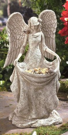 Grasslands Road Angel Bird Feeder, 14-Inch, Gift Boxed