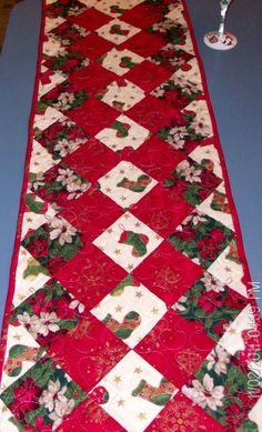 Diamond Christmas Table Runner by CarolynDiPerri on Etsy, $40.00
