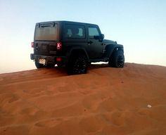 Jeep on Sand
