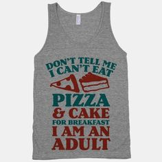 you can't tell me what to do! pizza is the best for breakfast