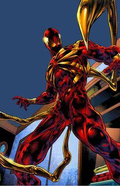 Iron Spider by Angel Medina Marvel Comics, Marvel Vs, Marvel Heroes, Comic Book Characters, Marvel Characters, Comic Books Art, Comic Art, Spiderman Spider, Amazing Spiderman