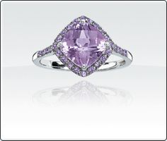 Rose de France Amethyst Ring  Rose de France is the term used for a light shade of Amethyst. Eye-catching! You'll probably be asked what kind of stone this is!  Product SKU: 6094964 Retail: $425.00 Your Price: $323.00