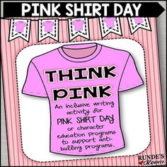 Pink Shirt Day: An Anti-Bullying Resource by Runde's Room Anti Bullying Activities, Bullying Lessons, Writing Activities, Holiday Activities, World History Teaching, World History Lessons, Bullying Bulletin Boards, Anti Bullying Programs, I Am Poem