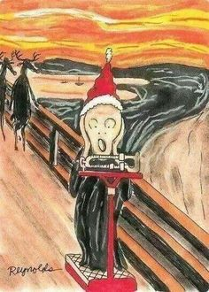 The [holiday weight gain] Scream.