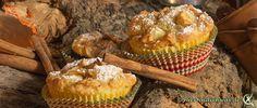 Ein saftiger aromatischer Wintermuffin, der Apfel-Zimt-Muffin