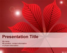 Red Leaf PowerPoint Template is a free red PowerPoint template background that you can download to decorate your presentations