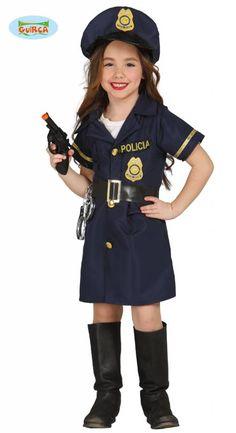 Politie meisje kostuum - Feestbazaar.nl